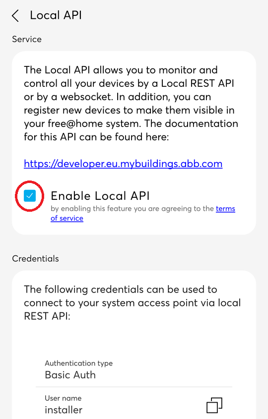 enable local api step 4